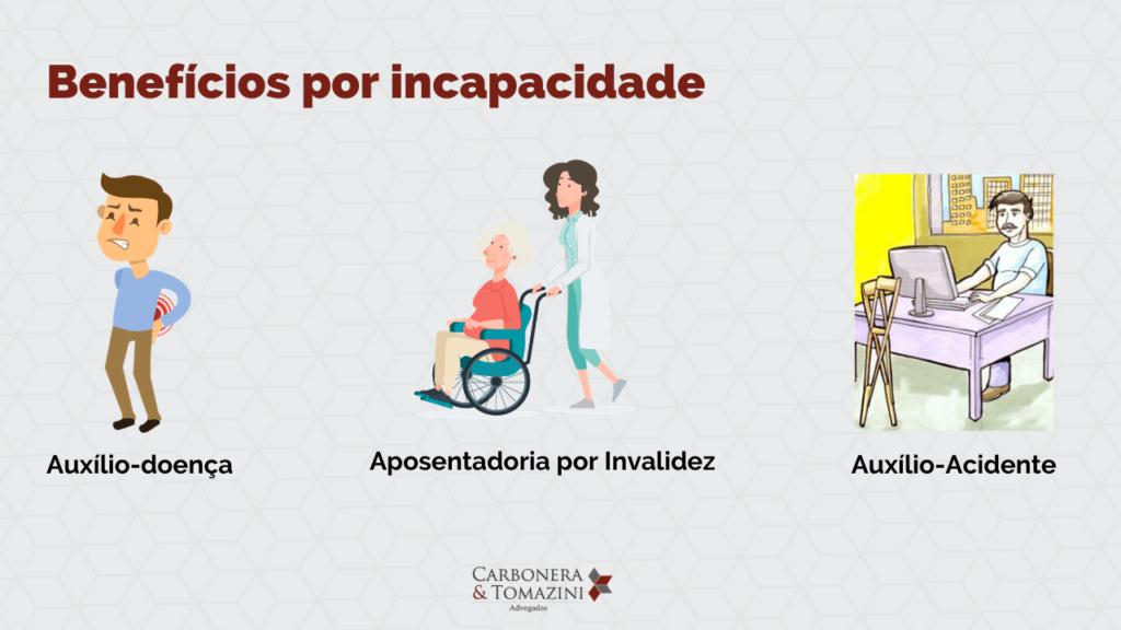 direitos previdenciários benefícios por incapacidade